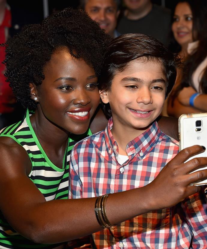 Lupita Nyong'o plays the role of Raksha in the film, while 10-year-old Neel Sethi has the lead role of Mowgli