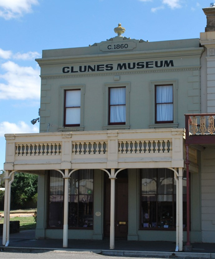 The Museum on the main street of Clunes, Victoria.