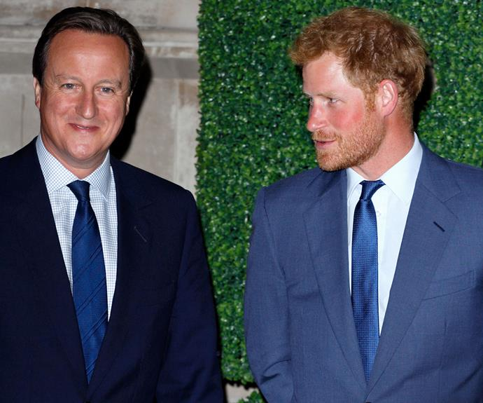 Perhaps Harry is suggesting to British Prime Minister, David Cameron to grow a beard in order increase his popularity on the polls.