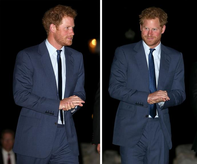 Prince Harry showed up to the Rugby World Cup welcoming party with his rugged beard a crisp blue suit, and wow - he looks good!