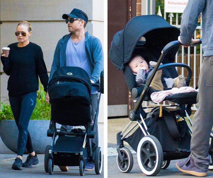 Lara Bingle and Sam Worthington were back in Australia last week, for the first time since welcoming adorable son Rocket Zot into the world in March.