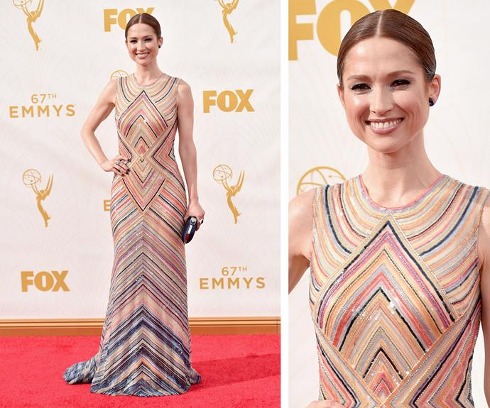 Yes! Ellie Kemper is delicious in this candy inspired sparkle number.
