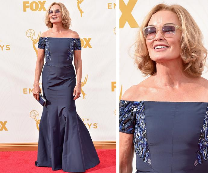 Too cool for school! Somebody ring the postman because Jessica Lange is flawless.