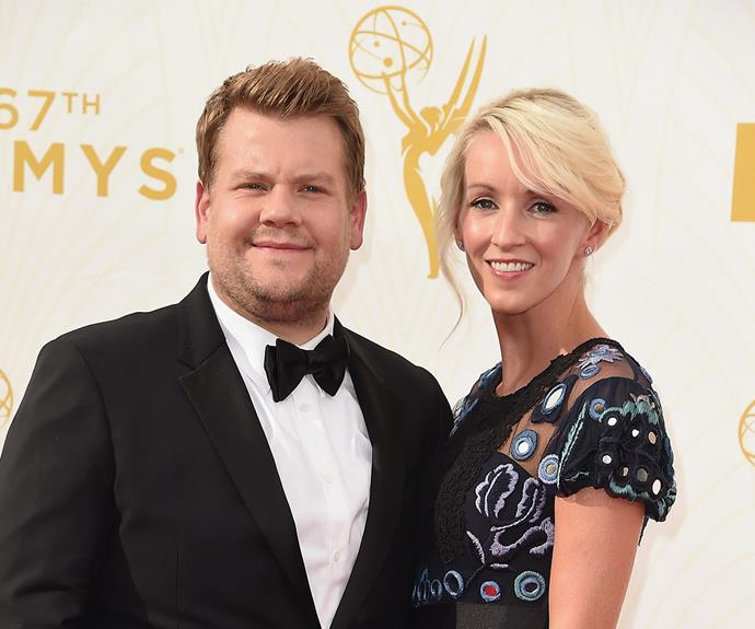 Comedian and talk show host [James Corden](http://www.womansday.com.au/entertainment/viral/stevie-wonder-brings-james-corden-to-tears-13665) brought his Mrs, Julia Carey to the fun night.