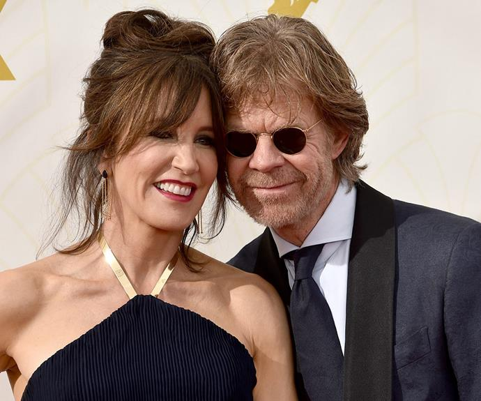 Felicity Huffman debuted a bold new look, swapping in her blond locks for a chocolate brown colour. And her husband William H. Macy clearly approves.