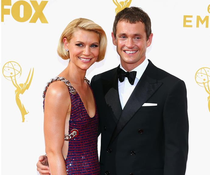 *Homeland* stunner Claire Danes popped in a purple Prada number and Hugh Dancy couldn't look more proud of his wife, who was nominated for the Outstanding Lead Actress In A Drama accolade.