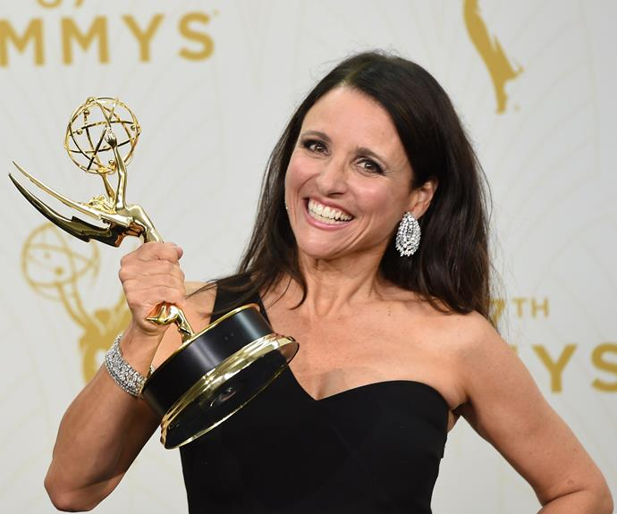 "Funny-lady Julia Louis-Dreyfus bagged another Emmy for political drama *Veep.* In her acceptance speech, she quoted her character Selina Meyer from the show. ""What a great honour it must be for you to honour me tonight ... oh, no, I'm sorry, Donald Trump said that, I'm sorry,"" she joked."