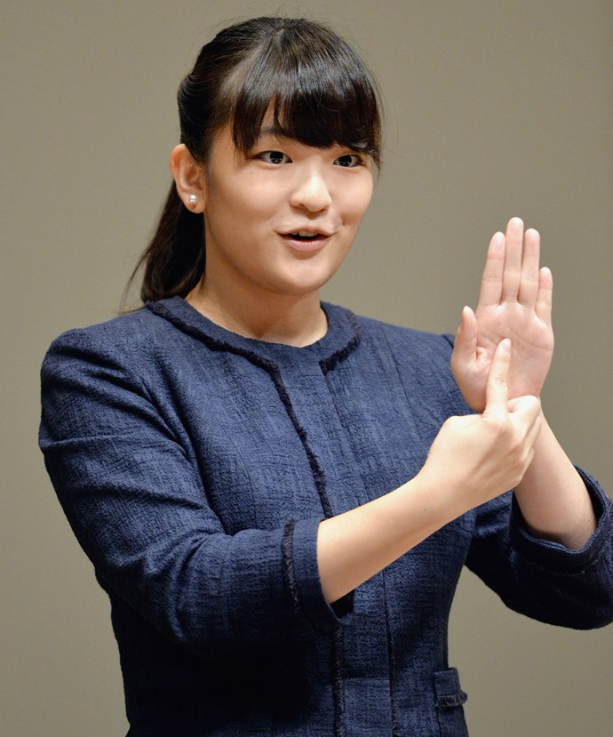 Princess Mako works closely with the deaf community in Japan and can sign fluently.