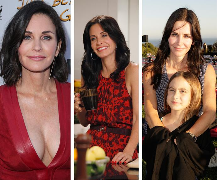 In the Nineties Courteney Cox was a *Scream* queen and the hilarious Monica Geller. Today the actress is mum to daughter, Coco, and has continued working in front of the camera. When the 51-year-old is not Jen Aniston's bestie, Courteney is the lead star in the sitcom, *Cougar Town*. She is also happily engaged to Snowpatrol rocker Johnny McDaid.
