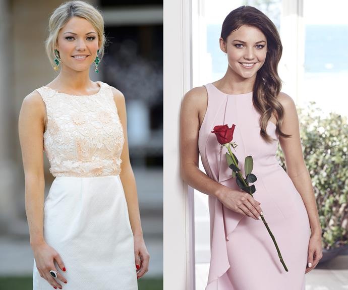 Sam Frost won the second series of *The Bachelor* in 2014 but was infamously dumped by Blake Garvey. Now she's traded in her blonde hair for a new fabulous brunette 'do, and turning the tables around. Sam's taking hold of her fate, giving out her own roses – making her the perfect *Bachelorette.*