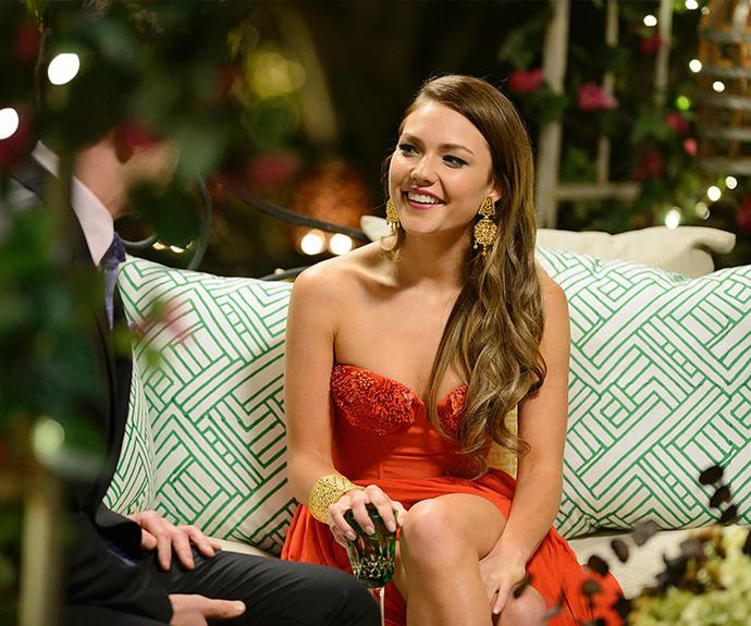 Cheers to Sam Frost! May she find love, hot boys and a never-ending glass of champagne.