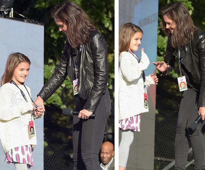 Suri Cruise looks increasingly like her mum, Katie Holmes.