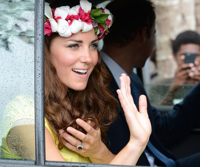 Duchess Catherine seems to be channeling her late mother-in-law with these stunning flowers.