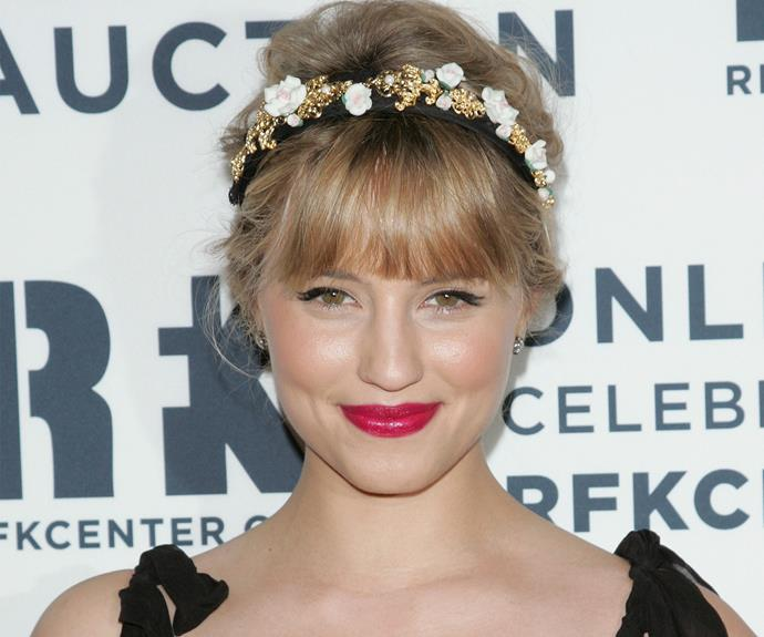 I think we're feeling ultimate glee over the candy-inspired crowning glory on Diana Agron's head.