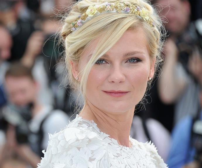 Kirsten Dunst is serving up some serious flower power with this stunning look.