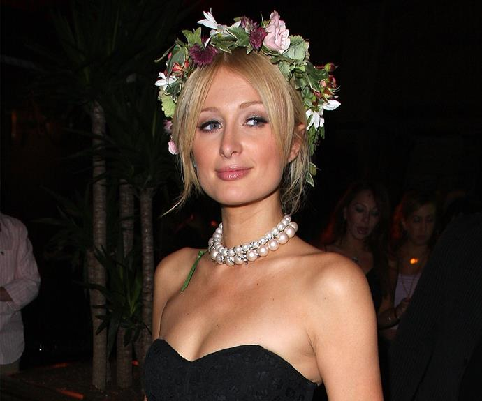 The perfect way to way to elevate your good girl status is with addition of a flower halo. Just ask Paris Hilton.