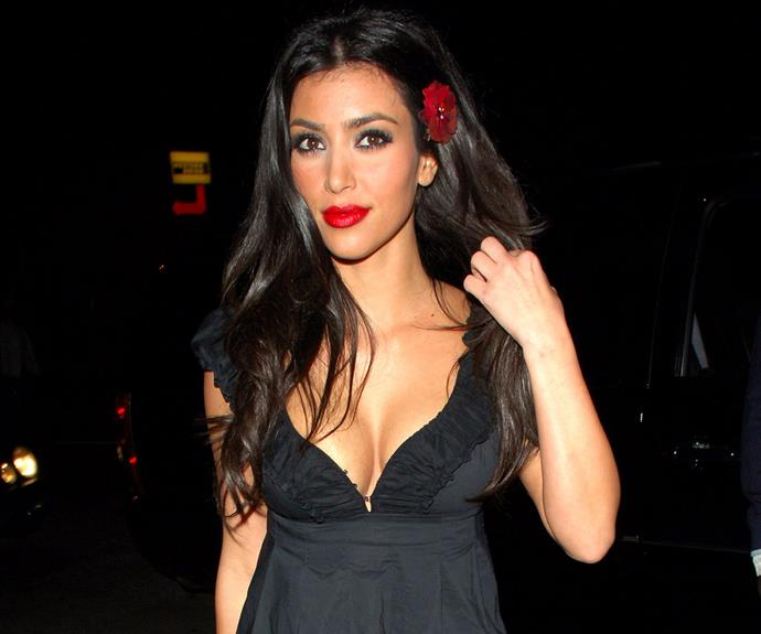 Even vintage Kim Kardashian circa 2007 gets that all a girl needs is a touch of petals.
