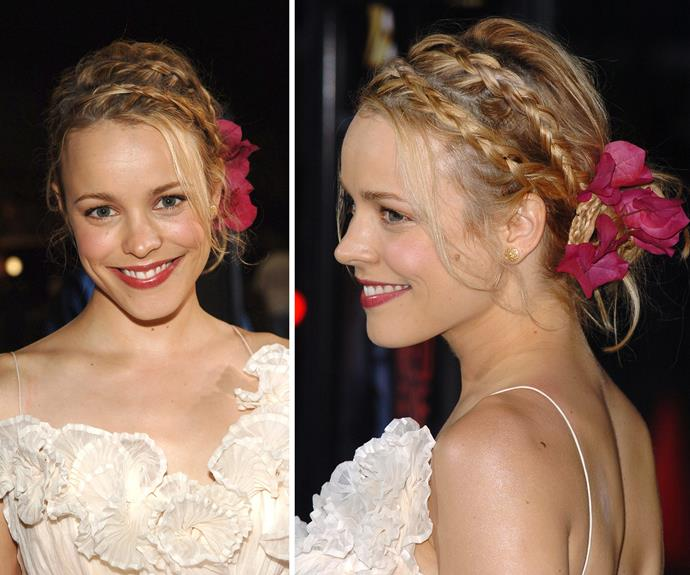 Soft, feminine and incredibly sultry. We'd write you 365 letters with hair like that Ms Rachel McAdams!
