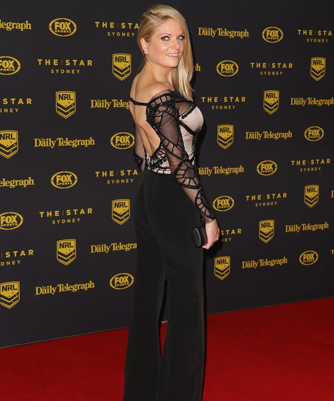 Erin spoke out about her colleague at the *Dally M* Awards.