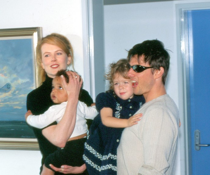 Way back when: Tom Cruise and his then-wife, Nicole Kidman, spend time with their children Connor and Isabella in 1996. During their marriage, the couple adopted their two children.