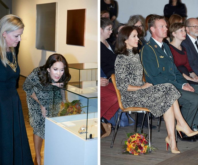 The mum-of-four attended the St Loye Prize 2015 ceremony at Round Tower in Copenhagen, the event celebrates the work of jewellery designers and goldsmiths.