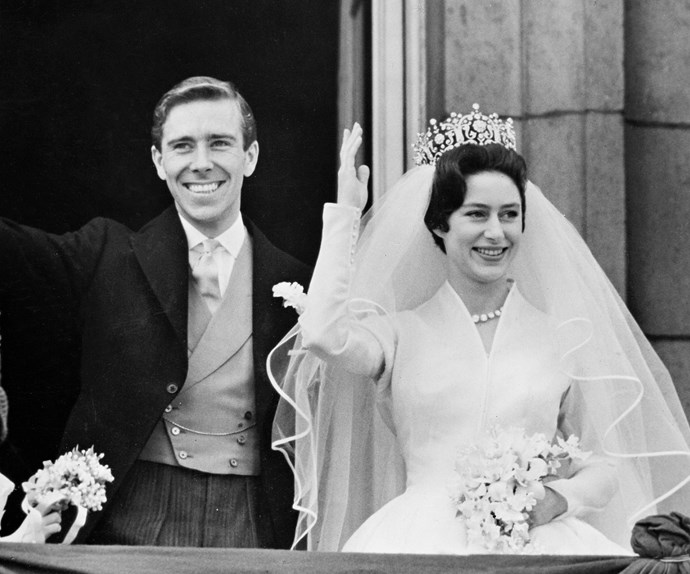 Princess Margaret married photographer Antony Armstrong-Jones in a lavish ceremony at London's Westminster Abbey in 1960.