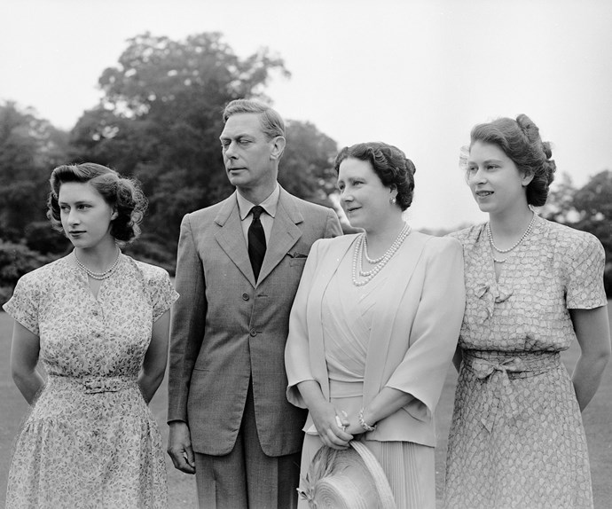 An unbreakable bond: Along with her sister, Princess Margaret lived a wonderful life as little girls, but it changed forever when her father, with whom she shared a close relationship with, reluctantly and unexpectedly became King after his brother abdicated from the throne. Here, King George and Queen Elizabeth spend time with their daughters at the Royal Lodge in Windsor in 1946.