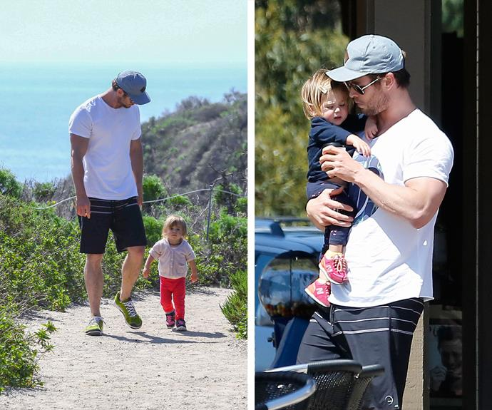 There are a few things more attractive in the world than a guy that's good with kids and after having three of them we'd say [Chris has the daddy role](http://www.motherandbaby.com.au/family/dads/2015/10/single-dad-is-teaching-other-fathers-how-style-their-daughters-hair/) down pat. The doting papa just loves his daughter India, three, and one-year-old twins Sasha and Tristan, whom he shares with wife Elsa Pataky.