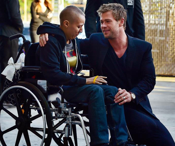 Not only is Chris supremely hot and a fantastic father but he's [also genuinely a great guy](http://www.womansday.com.au/celebrity/australian-celebrities/chris-hemsworth-through-the-years-13348) – perhaps his most attractive feature of all – here he is comforting a fan with a disability.