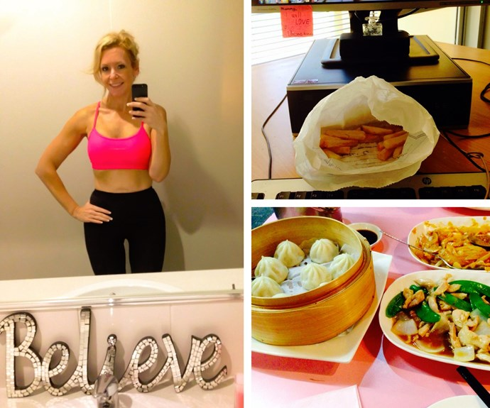 Alison works out daily but still enjoys eating the food she loves.