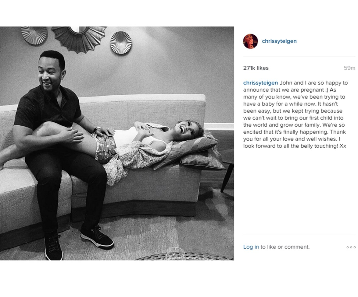 The couple shared this touching picture on Instagram.
