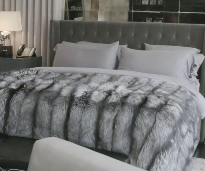 Kylie's luxurious bedroom.