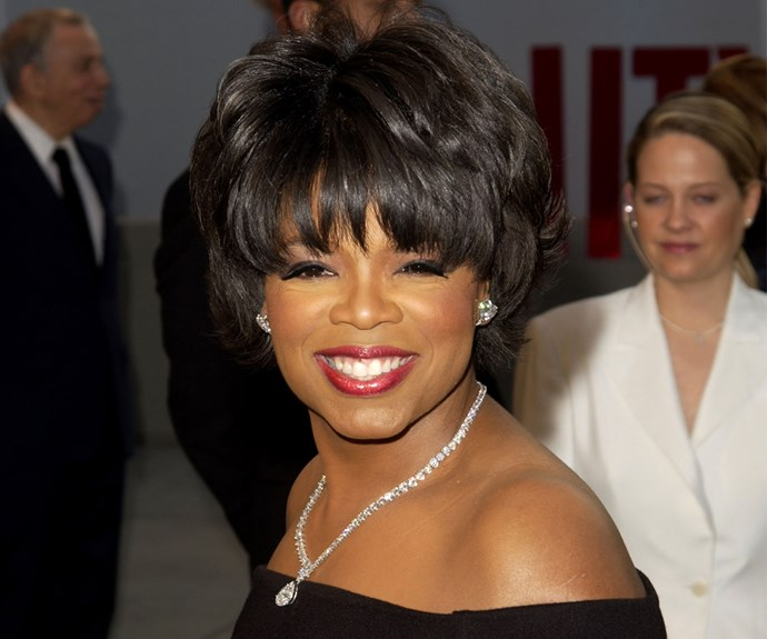 Short and sweet. Oprah embraced the scissors in 2002.