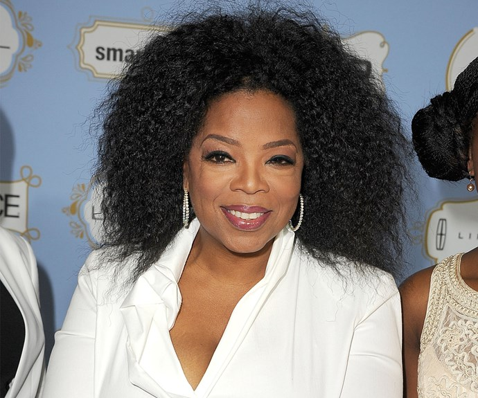 Holy frizz! Looking a bit under the (humid) weather, Oprah worked kinks in 2013.
