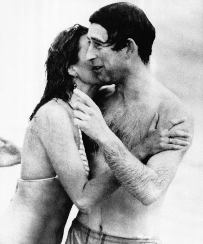 This iconic photo of Prince Charles and model Jane Priest was taken on Perth's Cottesloe Beach back in 1983.