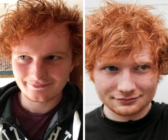 Spot the difference! This UK lad has been stopped more than once by people mistaking him for Ed Sheeran.
