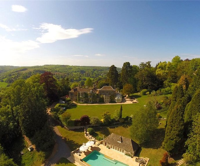 The 22-acre property is nestled into the Cotswold region, just outside of the town of Amberley.