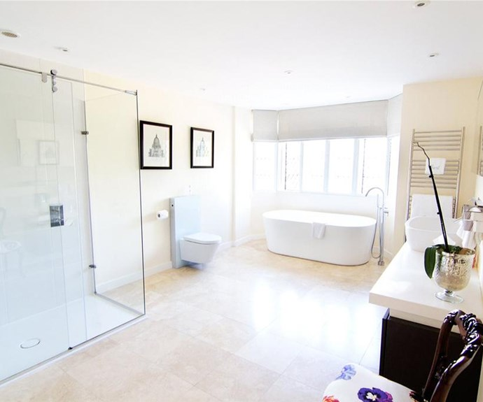 The bathrooms boast marble flooring and state-of-the-art appliances.
