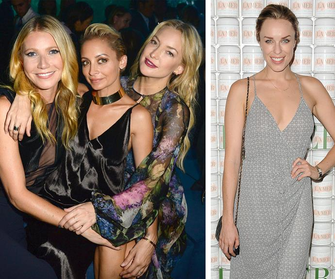 Gwyneth Paltrow, Nicole Ritchie and Kate Hudson strike a pose at the LA event. Also in attendance was Australian actress and former *Packed to the Rafters* star, Jessica McNamee.