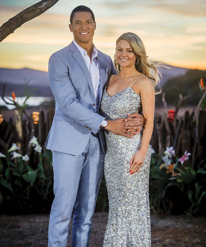 Blake Garvey proposed to Sam Frost on last year's season of *The Bachelor*.