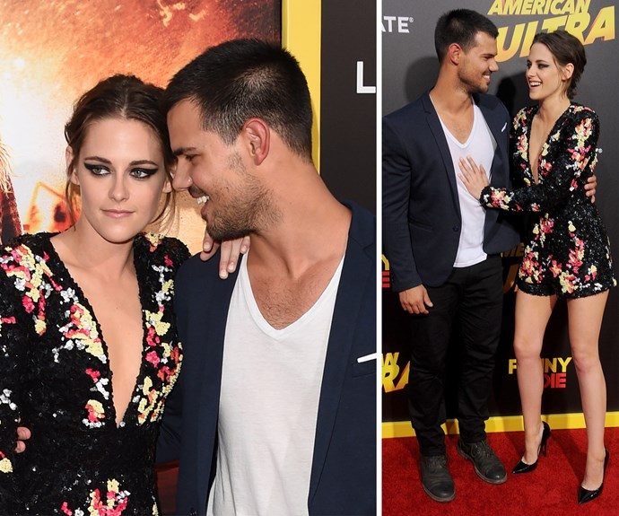 Kristen couldn't have been more comfortable with her former on-screen love interest.