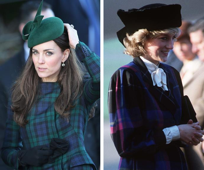 Tartan gets the royal treatment with the addition of a cute felt hat.