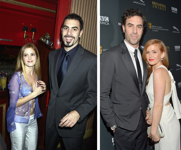 Isla Fisher went from *Home and Away* to Hollywood with her man Sacha Baron Cohen by her side, and even back in their 2002 early years, they still looked fab!