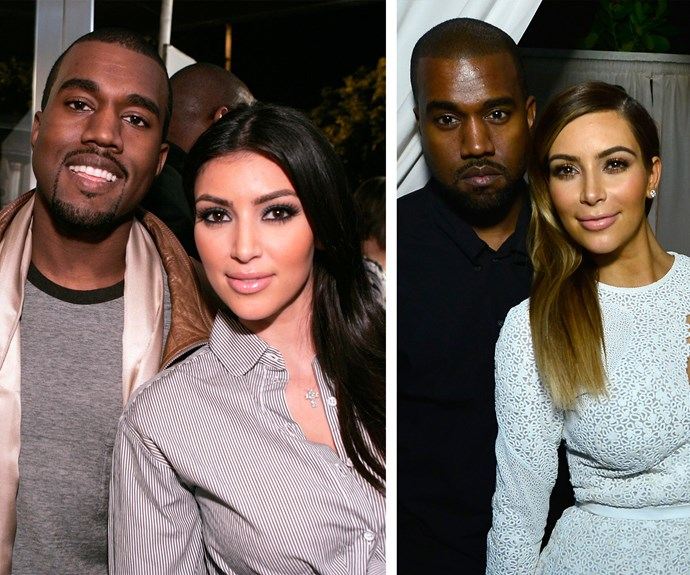 In 2007, before they Kimye, Kanye used to smile and Kim's face looked, er, different. Nowadays though Kim Kardashian and Kanye West are seasoned photo-op pros.