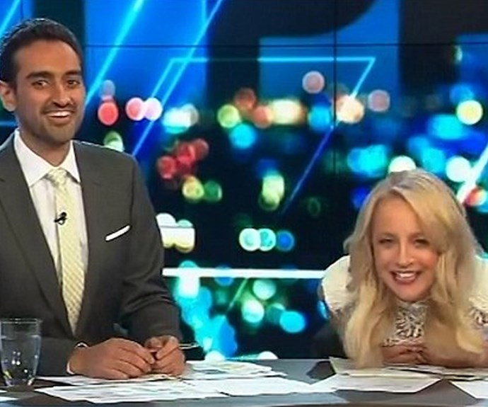 Carrie Bickmore! The TV show host also announced her news live on the air.