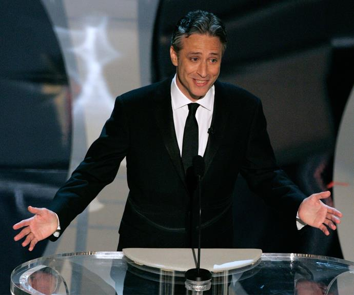 Jon Stewart got a few laughs when he hosted in 2006 and 2008.