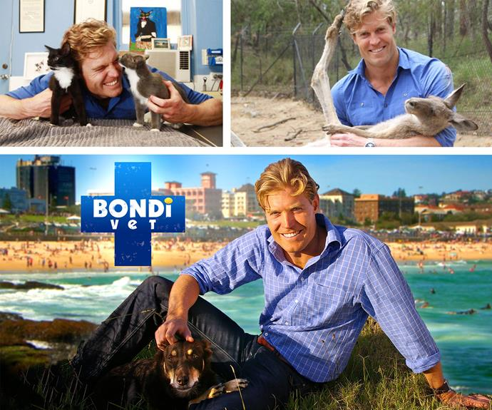 How could we forget one of his finest attributes: He's a doctor! Chris adores animals and whether he's on *Bondi Vet*, *The Living Room* or *I'm Celeb* - when he gets up close with the animals... our hearts melt!