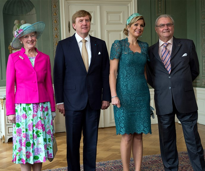 Queen Maxima is on the bandwagon as well! She wore her Dolce & Gabbana dress in 2013 to visit Denmark.