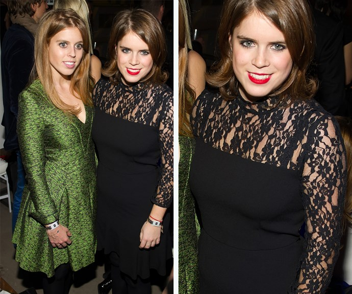 Her sister, Princess Eugenie, worked a black lace dress in 2013.