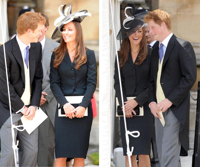 While Harry usually instigates the LOLs, Catherine's capable of serving them up too! She made Harry blush during a church service back in 2008. Oh, to be a fly on the wall...